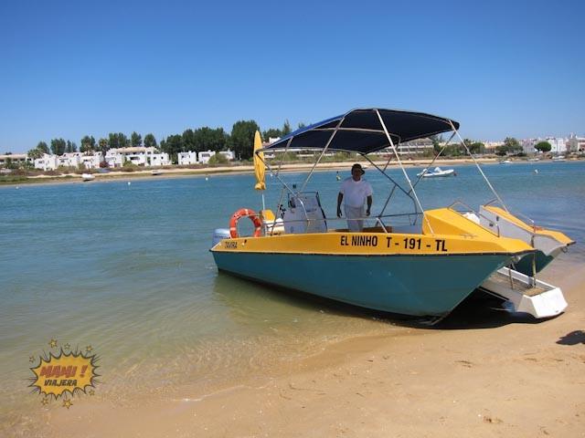 Bote del Golden Cabanas en la Ría Formosa