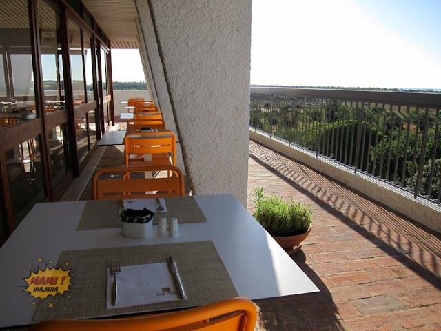 Vista de la terraza del Ozadi